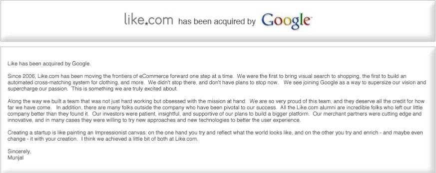 google acquires like.com