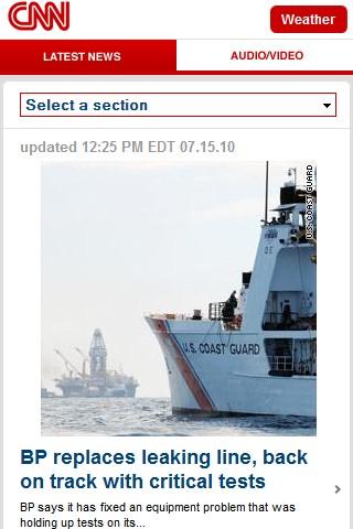 CNN mobile web design