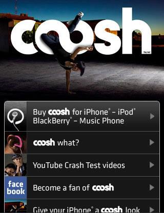Coosh mobile web design