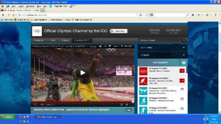 YouTube Broadcasting Olympic