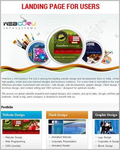 Design a Professional Landing Page