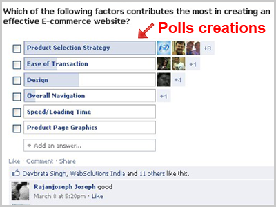 Creating Polls and contests