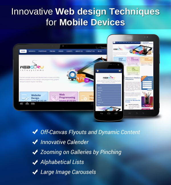 how to design your website for mobile devices