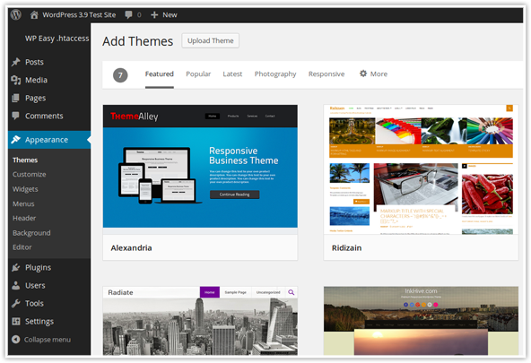 Improved Theme Browser