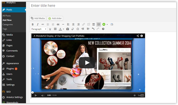 Embedding Videos Becomes a Lot Easier