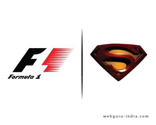 formula 1 and superman logo