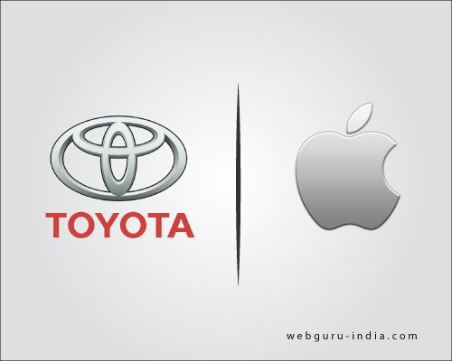 toyota and apple logo design