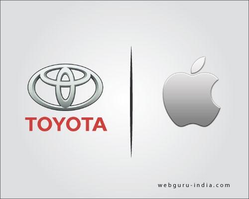 toyota and apple logo design