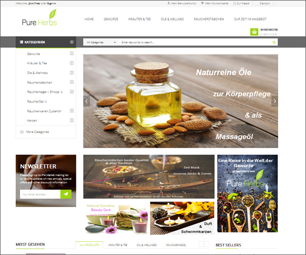 purehurbs magento website