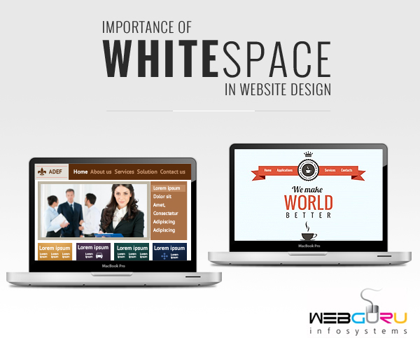 How important is white space in website design for Importance of space in architecture