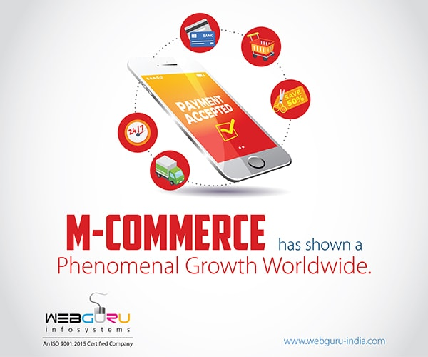 Benefits of M-Commerce Applications Infographic