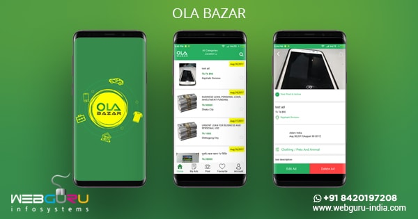 OLA Bazar Mobile App